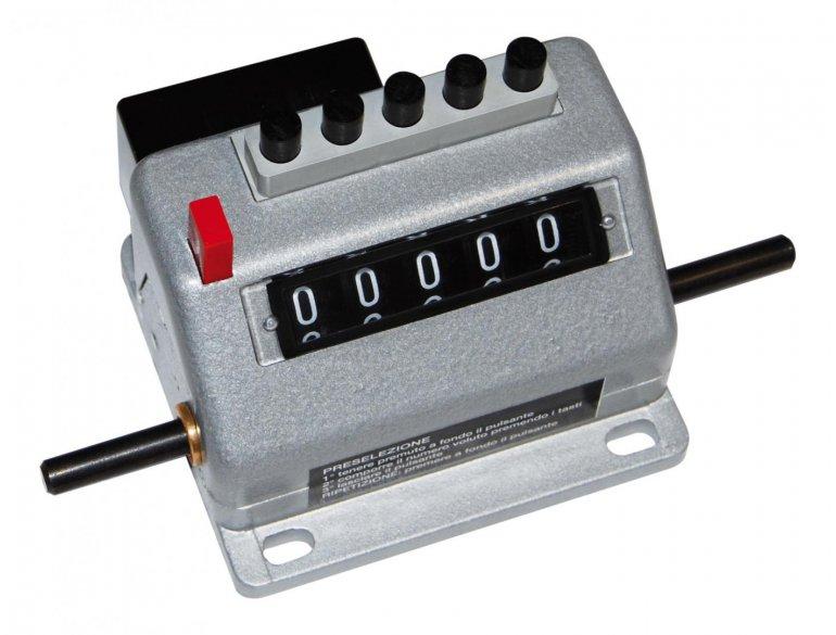 Conta metri a predisposizione decontante con pulsante rimessa a zero R75