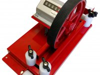 Meter counter for textile machinery measurement
